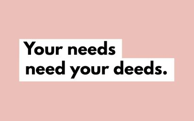 You Don't Have To Meet Other People's Needs To Meet Yours