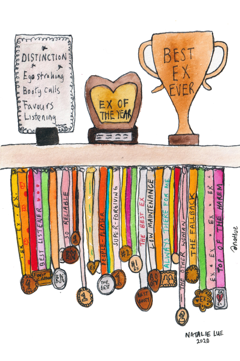 The best ex in the world medals illustration | Natalie Lue
